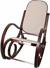 Fauteuil à bascule rocking chair en bois foncé