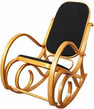 Fauteuil à bascule rocking chair imitation chêne