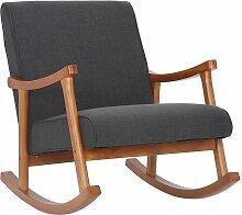 Fauteuil à bascule style rocking chair en tissu
