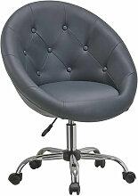 Fauteuil à roulette cuir PU tabouret chaise de