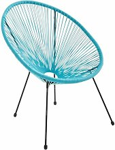 Fauteuil ACAPULCO forme d'oeuf - Turquoise -
