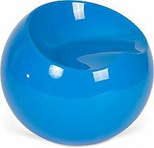 Fauteuil Ball Chair Finn Stone Style Bleu