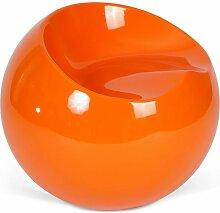 Fauteuil Ball Chair Finn Stone Style Orange clair