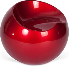 Fauteuil Ball Chair Finn Stone Style Rouge chili