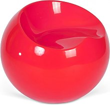 Fauteuil Ball Chair Finn Stone Style Rouge