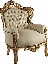 Fauteuil baroque en feuille d'or et