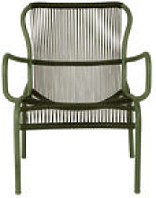 Fauteuil bas Loop Lounge Rope / Empilable -