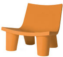Fauteuil bas Low Lita - Slide orange en matière