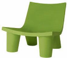 Fauteuil bas Low Lita - Slide vert en matière