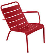 Fauteuil bas Luxembourg / Aluminium - Fermob rouge