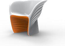 Fauteuil bicolore BIOPHILIA de Vondom, Orange