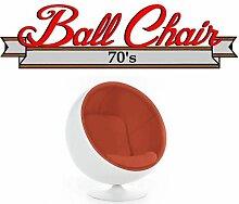 Fauteuil boule, Ball chair coque blanche /