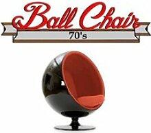Fauteuil boule, Ball chair coque noir / intérieur