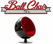 Fauteuil Boule, Ball Chair Coque Noir/intérieur