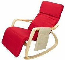 Fauteuil / chaise à bascule avec repose-mollets