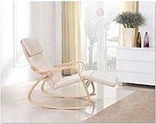 Fauteuil / Chaise à bascule couleur  BEIGE avec