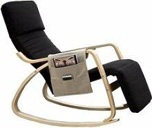 Fauteuil / Chaise à bascule couleur NOIR avec