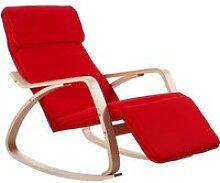 Fauteuil / Chaise à bascule couleur ROUGE avec