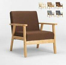 Fauteuil Chaise scandinave design vintage en bois