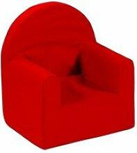 Fauteuil club en mousse polyester rouge enfant