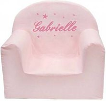 Fauteuil club rose (personnalisable)