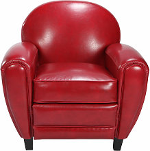 Fauteuil Club rouge - Rouge
