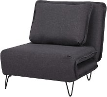 Fauteuil convertible en tissu LOOF - Anthracite