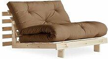 Fauteuil convertible futon ROOTS pin naturel