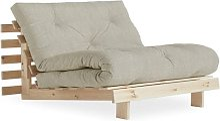 Fauteuil convertible futon ROOTS pin naturel tissu