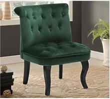 Fauteuil crapaud MELOSIA - Velours vert sapin