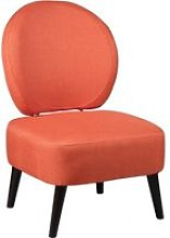 Fauteuil crapaud tissu corail dossier rond 86,0