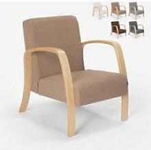 Fauteuil d'étude ergonomique en bois design