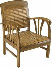Fauteuil DAK en Bambou et Teck Style Colonial -