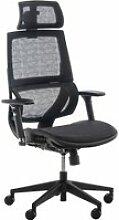 Fauteuil de bureau ergonomique hinwil avec dossier