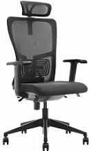 Fauteuil de bureau ergonomique tucson , noir /tissu