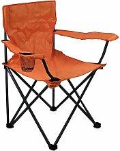 Fauteuil de camping pliant orange - orange