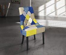 Fauteuil de chambre Willy en tissu patchwork
