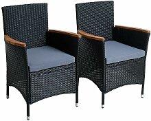 Fauteuil de jardin Chaise en polyrattan Chaise de