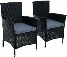 Fauteuil de jardin en polyrattan 2 fauteuils en