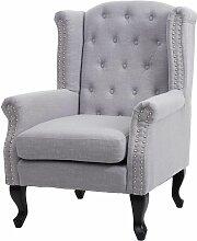 Fauteuil de luxe Chesterfield, fauteuil à