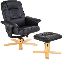 Fauteuil de relaxation CHARLY avec repose-pieds