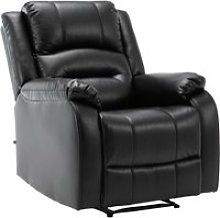 Fauteuil de relaxation kerpen , noir /véritable