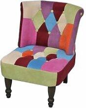 Fauteuil de Style France design patchwork multi