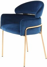 Fauteuil de table QUMA Bleu - Bleu
