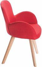 Fauteuil de table scandinave rouge MATIO