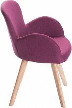 Fauteuil de table scandinave violet MATIO