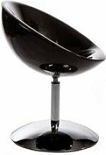 Fauteuil design BOWL Noir
