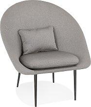 Fauteuil design lounge 'TOTEM' en tissu