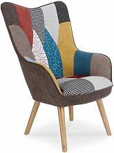 Fauteuil Design Patchwork artic 100cm Multicolore