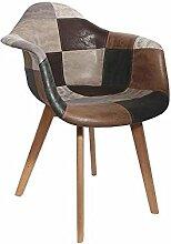 Fauteuil Design Patchwork - Effet Cuir - L 84 X P